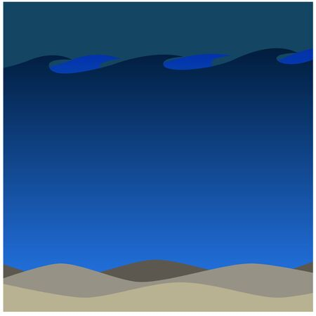 water's: Deep Waters Beach in The Night Background Ecosystem Artwork Illustration