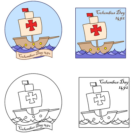 christopher columbus: Happy Columbus Day clip art