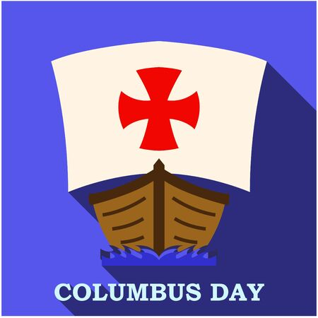 cristoforo colombo: Happy Columbus Day app art Vettoriali