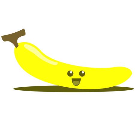 banane: Banana mignon de bande dessin�e