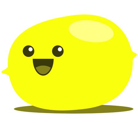 cartoon apple: Lemon cute cartoon