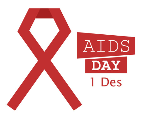 aids: World Aids Day Illustration Red Ribbon 1