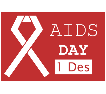 aids: World Aids Day Illustration Red Ribbon 4