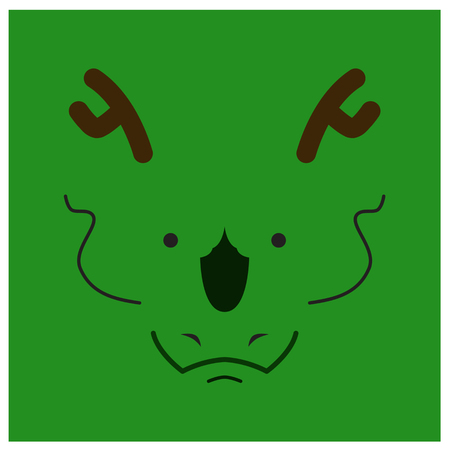 chinesse: Chinesse zodiac dragon face