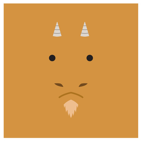 chinesse: Chinesse zodiac goat face Illustration