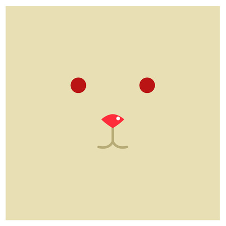 chinesse: Chinesse zodiac rabbit face Illustration