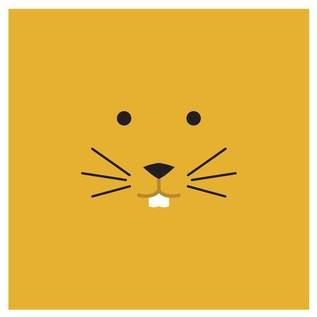 chinesse: Chinesse zodiac rat face Illustration