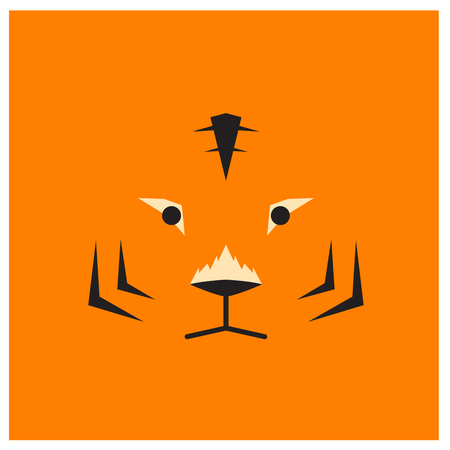 chinesse: Chinesse zodiac tiger face Illustration