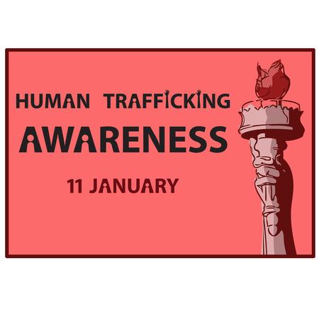 female prisoner: Human Trafficking Awareness