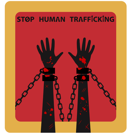 Human Trafficking Awareness Standard-Bild - 50069439