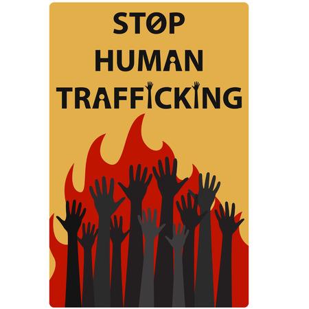hands tied: Human Trafficking Awareness