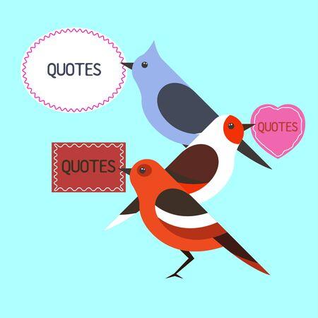 Bird quotes flat design illustration