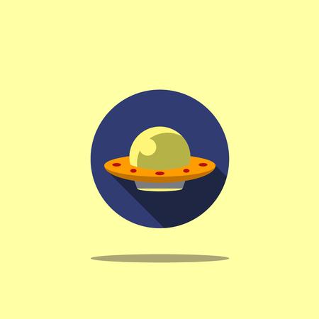 Space icon illustration ufo flat