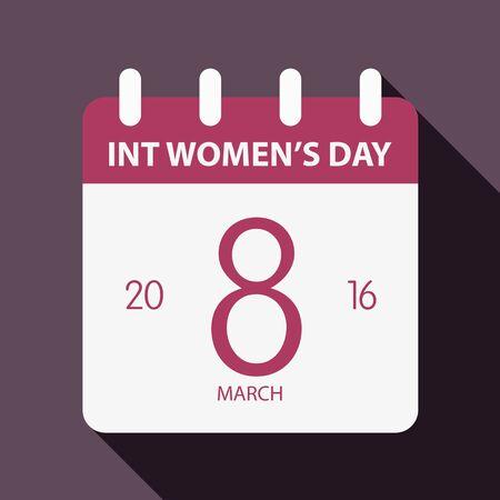 International women day illustration flat design 2 calendar