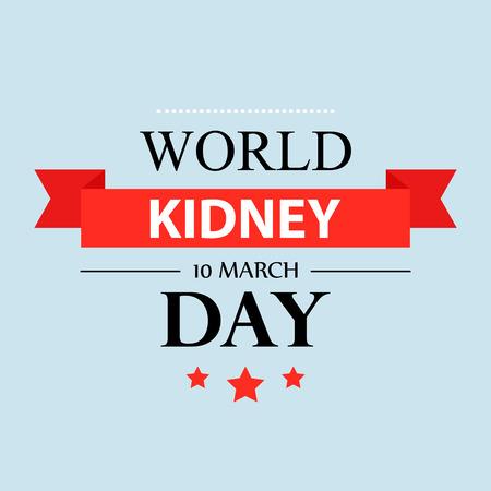World kidney day vintage label design illustration 07