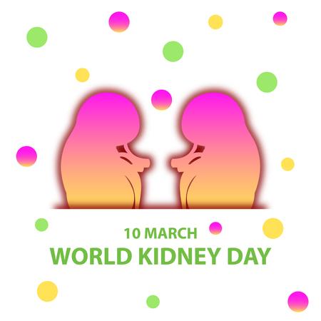 World kidney day flat design illustration 06