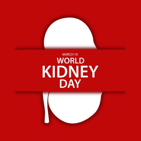 World kidney day flat design illustration 04 向量圖像