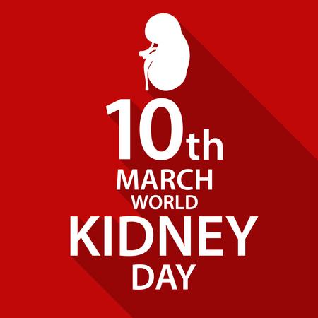 03: World kidney day flat design illustration 03