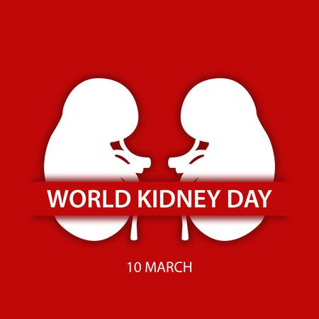 World kidney day flat design illustration 02 Illustration
