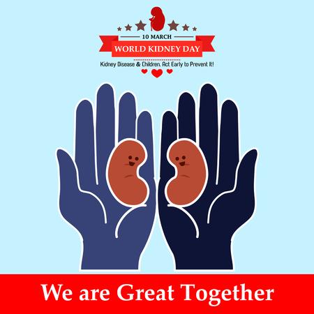 World kidney day design illustration 10
