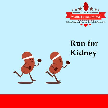 World kidney day cartoon design illustration 20