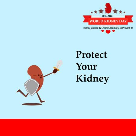 World kidney day cartoon design illustration 19 Illustration