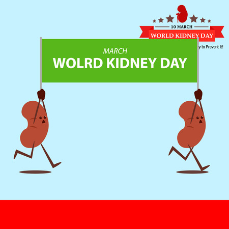World kidney day cartoon design illustration 17