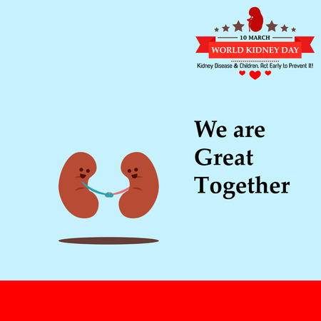 World kidney day cartoon design illustration 12