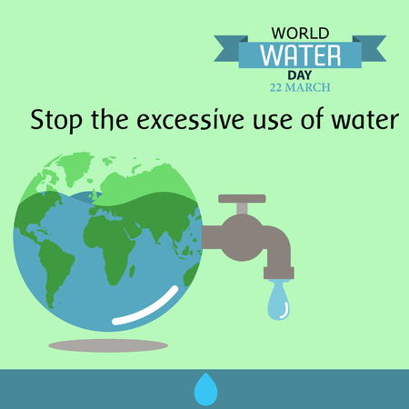 environmental awareness: World water day illustration cartoon design 08
