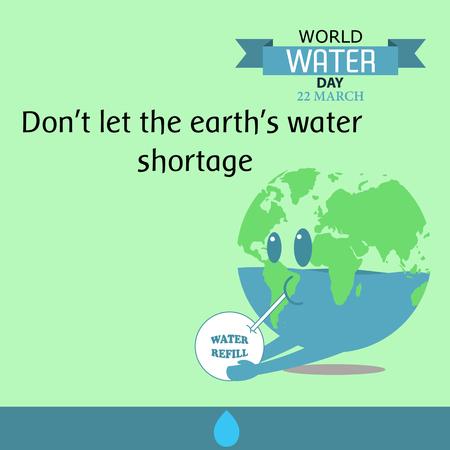 Diseño de agua en el mundo el día 06 de dibujos animados Foto de archivo - 59196800