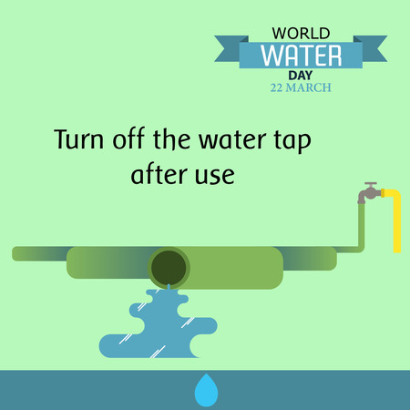 World water day illustration cartoon design 05 矢量图像