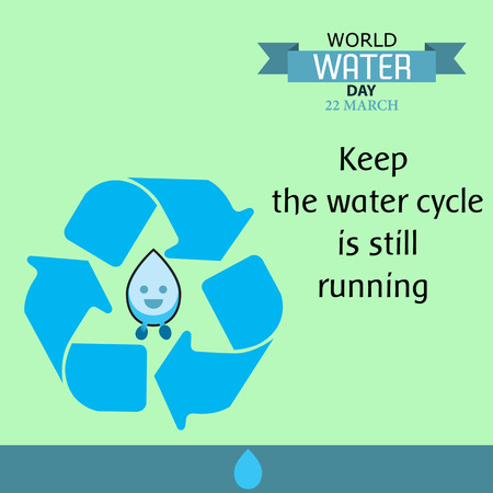World water day illustration cartoon design 03 矢量图像
