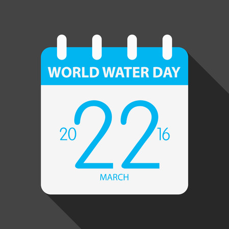 advocacy: World water day illustration flat design blue calendar