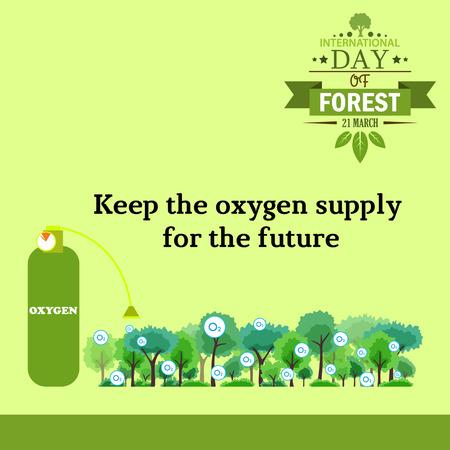 03: International day of forest illustration cartoon design 03
