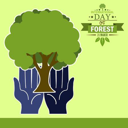 01: International day of forest illustration cartoon design 01 Illustration