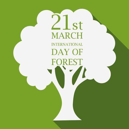 01: International day of forest illustration flat design 01
