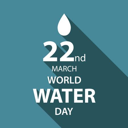 World water day illustration flat design 11