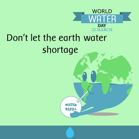 environmental awareness: World water day illustration cartoon design 06