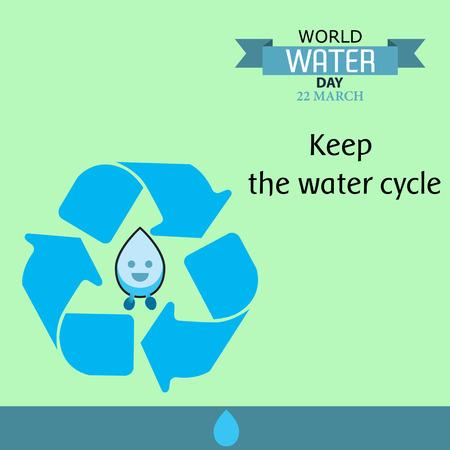 World water day illustration cartoon design 03 Illusztráció