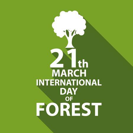 03: International day of forest illustration flat design 03 Illustration