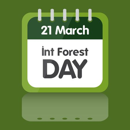 01: International day of forest illustration calendar design 01