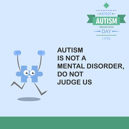 awareness: World autism awareness day 17 Illustration