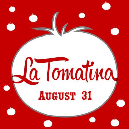 madness: La tomatina design illustration, a tomatoes festival in spain