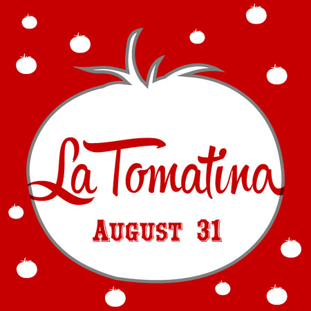 La tomatina design illustration, a tomatoes festival in spain
