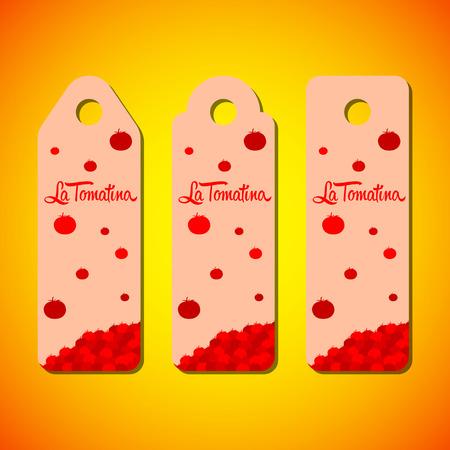 la: La tomatina design illustration, a tomatoes festival in spain of hanger