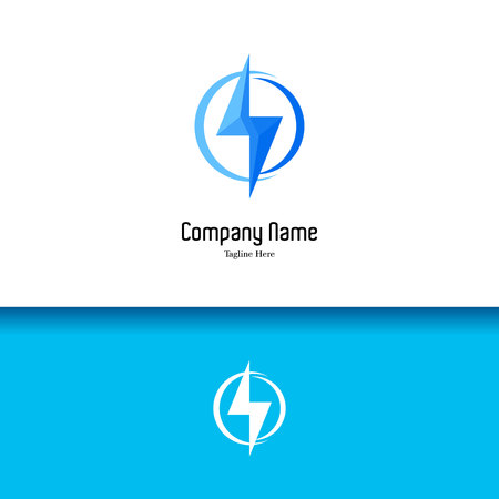 3D Electric lowercase flat design template
