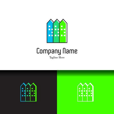 condo: Real estate, apartment, condo, house, rental business. Corporate branding unique and creative lowercase flat design template