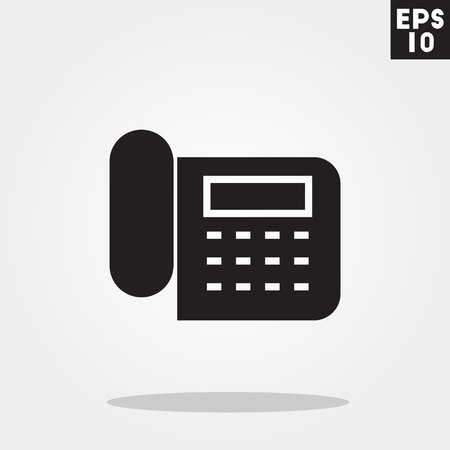 Telephone icon in trendy flat style isolated on grey background. Telephone symbol for your design, , UI. Vector illustration, .