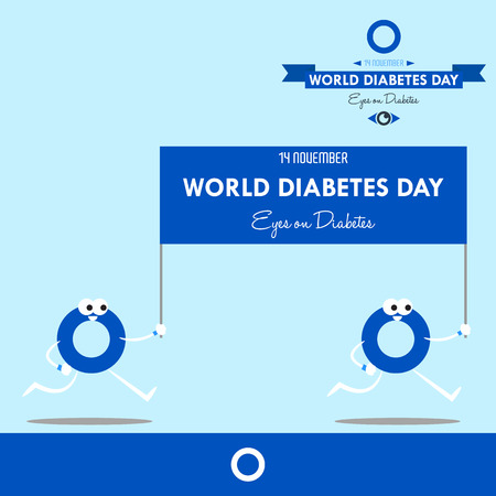 World diabetes day 2016 design illustration prevention for future Ilustracja