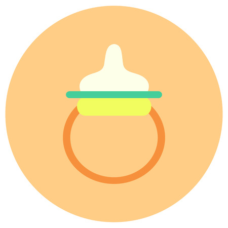 Baby pacifier icon in trendy flat style isolated on grey background. Baby symbol for your design, UI.